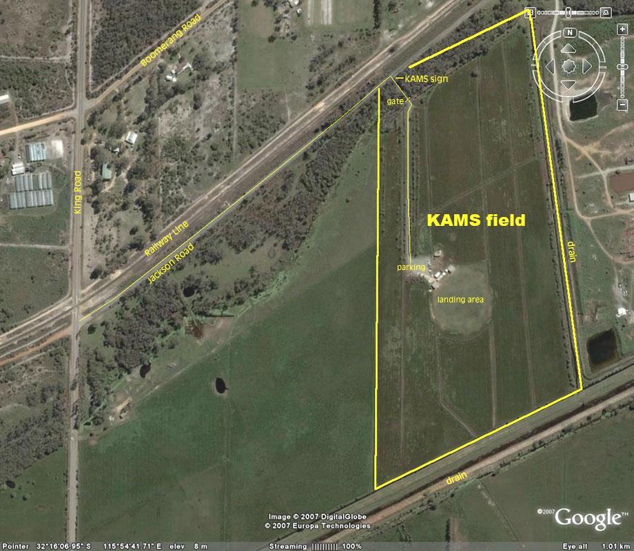 KAMS field and surroundings.