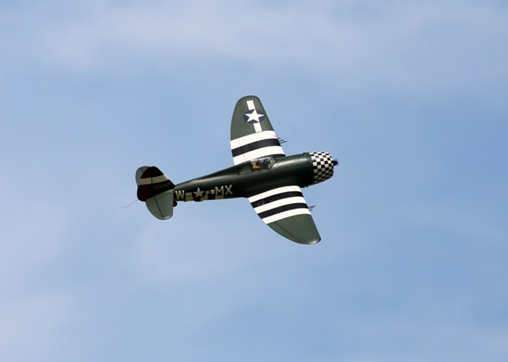 P47 flying